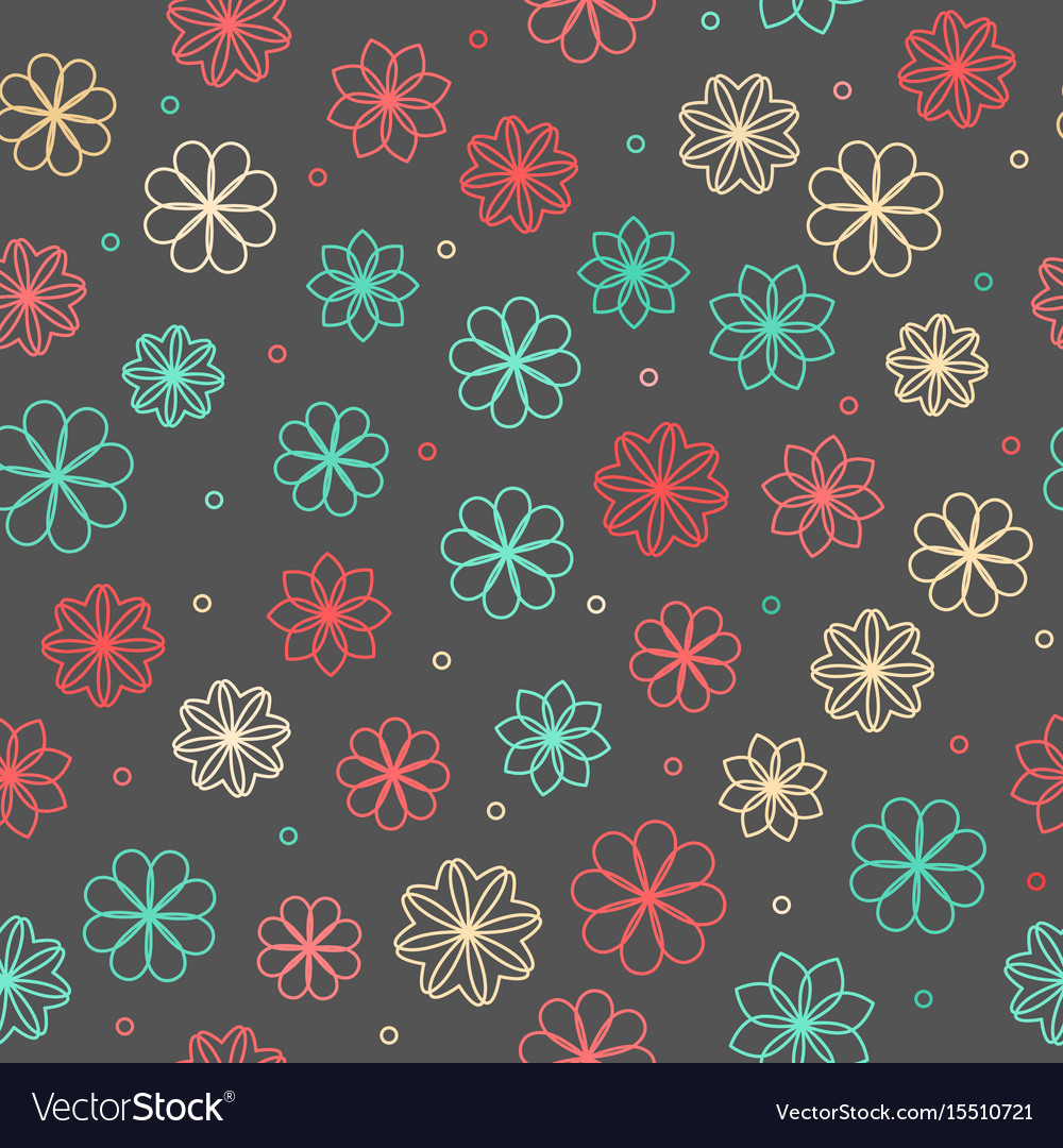 Seamless Hipster Floral Pattern Royalty Free Vector Image