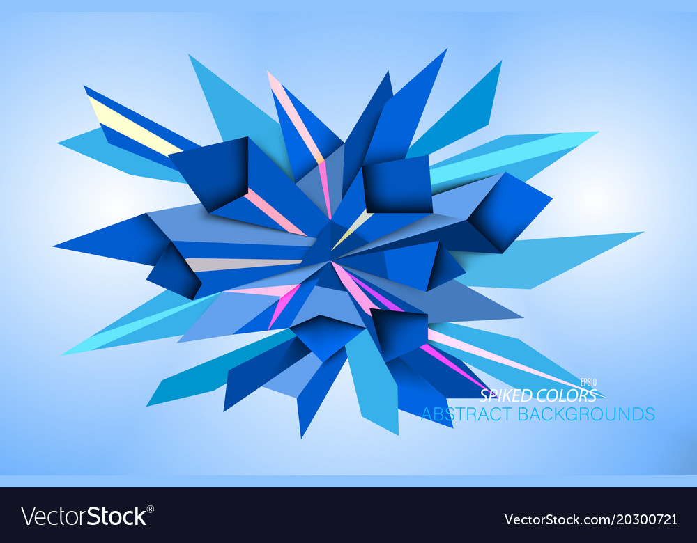 Spiked colors shape scene vector image