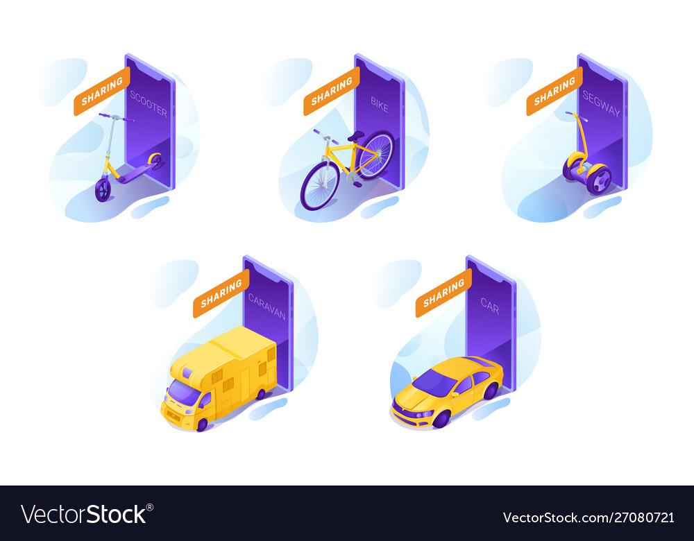 Transport rental services set