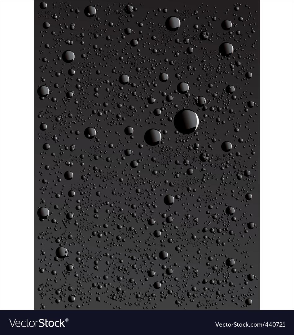 Water drop background vector image