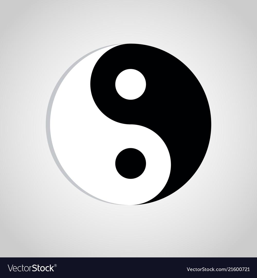 Yin Yang Symbol Sign Abstract Asian Icon Vector Image