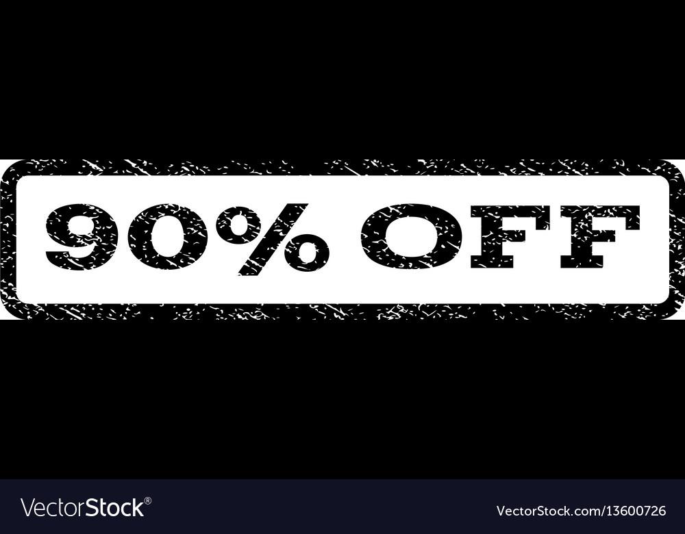 90 percent off watermark stamp vector image