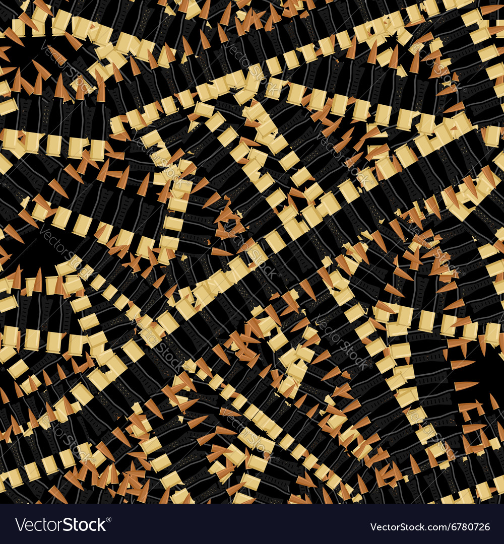 Bandolier Tape bullets seamless pattern Military