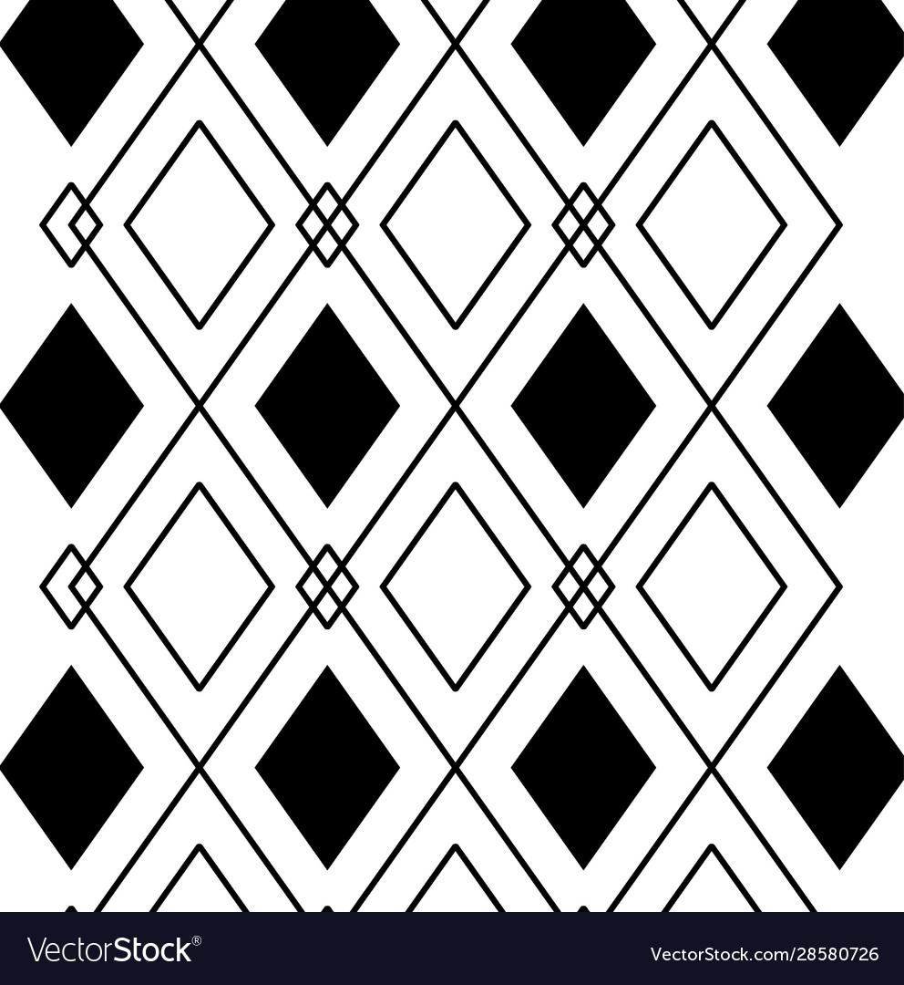 Black And White Diamond Background Design Vector Image