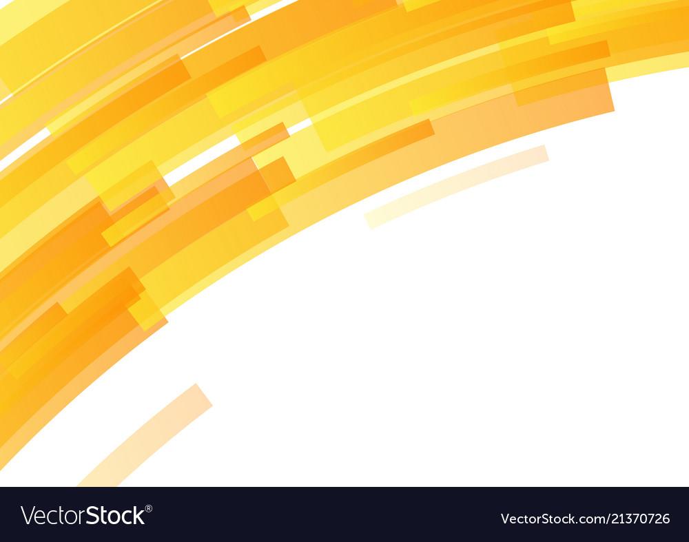 Bright orange curve geometric abstract background