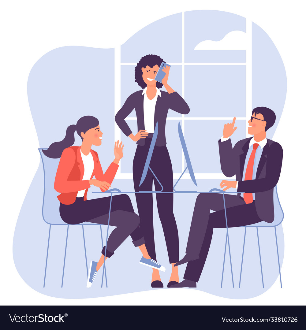 Business meeting negotiation brainstorming