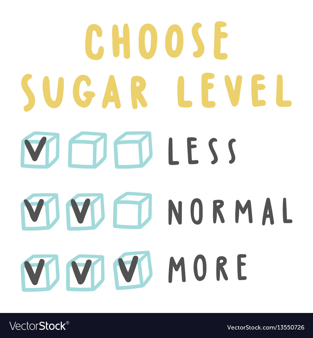 Choose sugar level for drinks