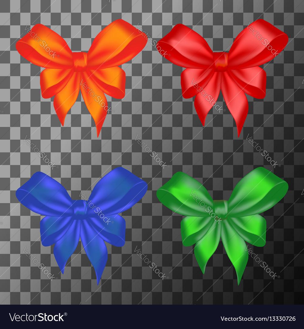 Colored bows set