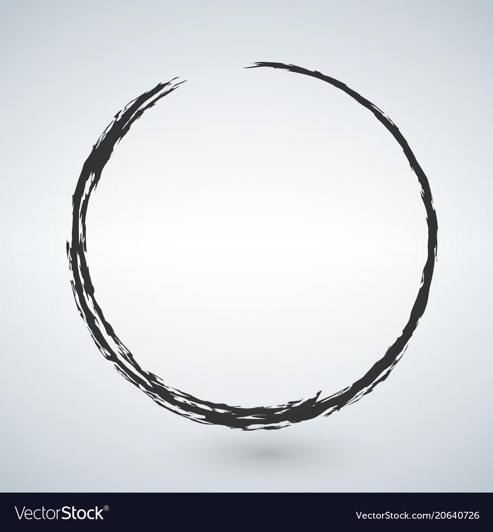 Grunge circle isolated on white background vector image