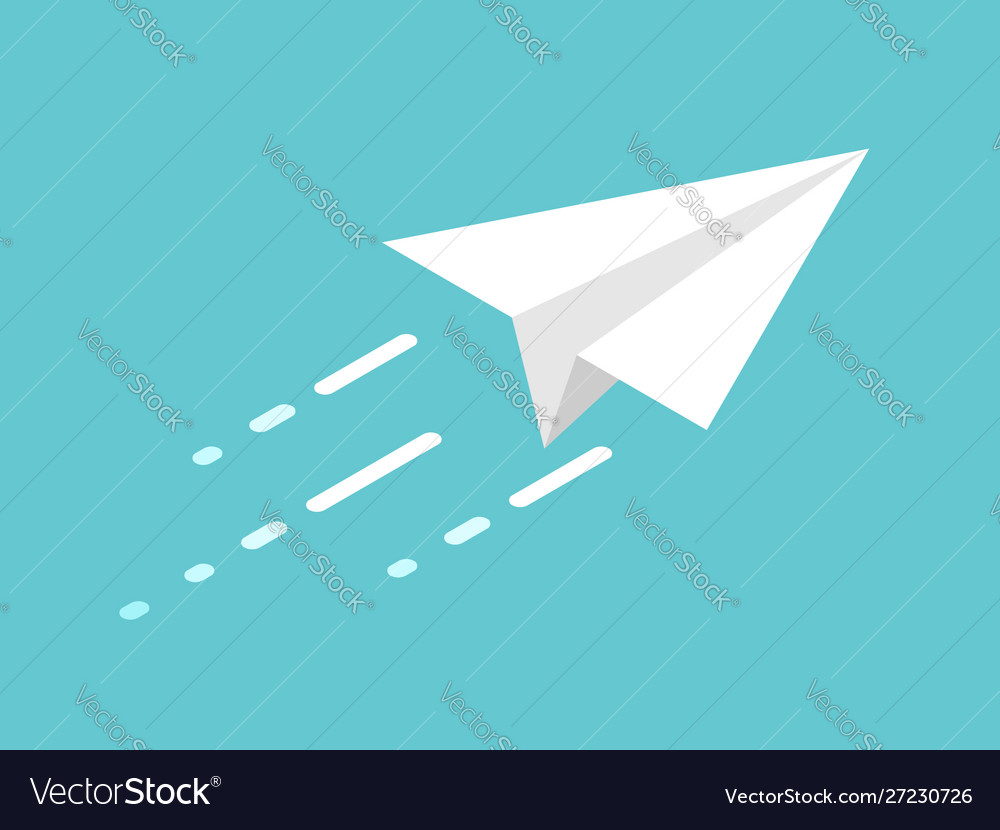 Isometric paper plane movement
