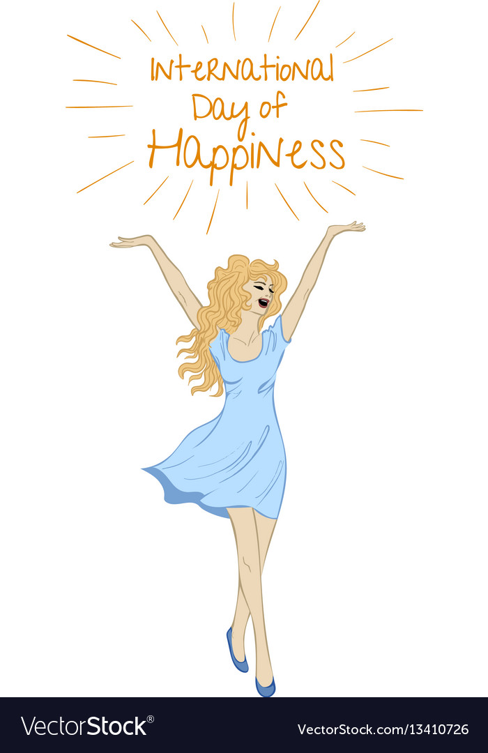 Sketch of happy woman vector image