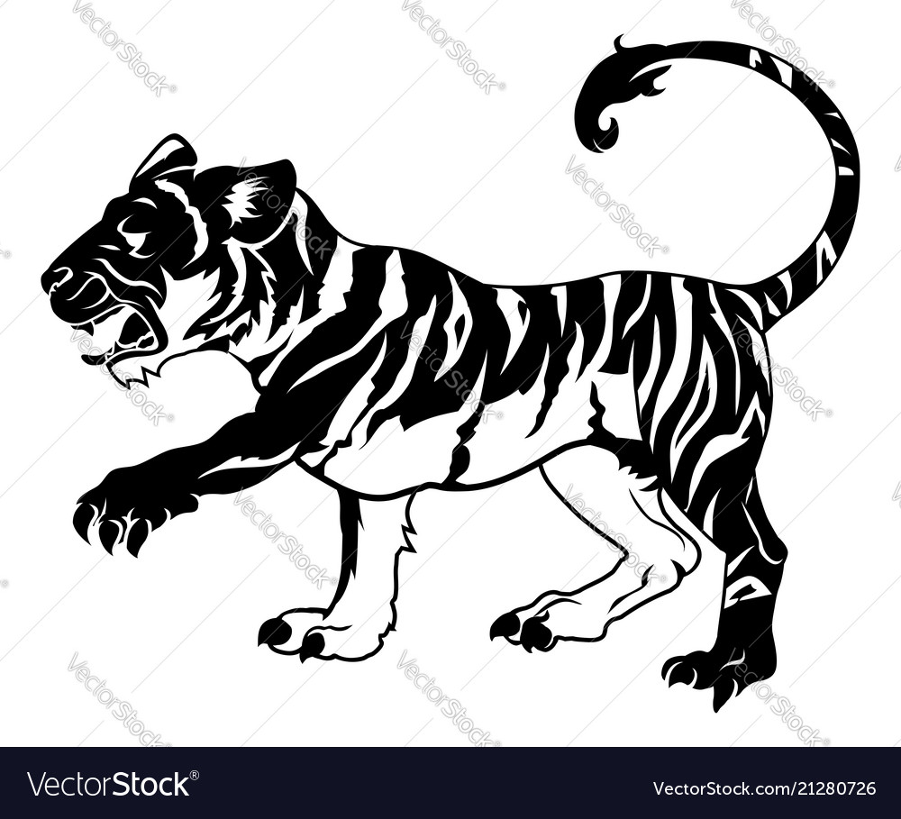 Stylised tiger