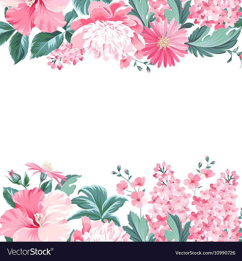 Vintage flower frame Royalty Free Vector Image
