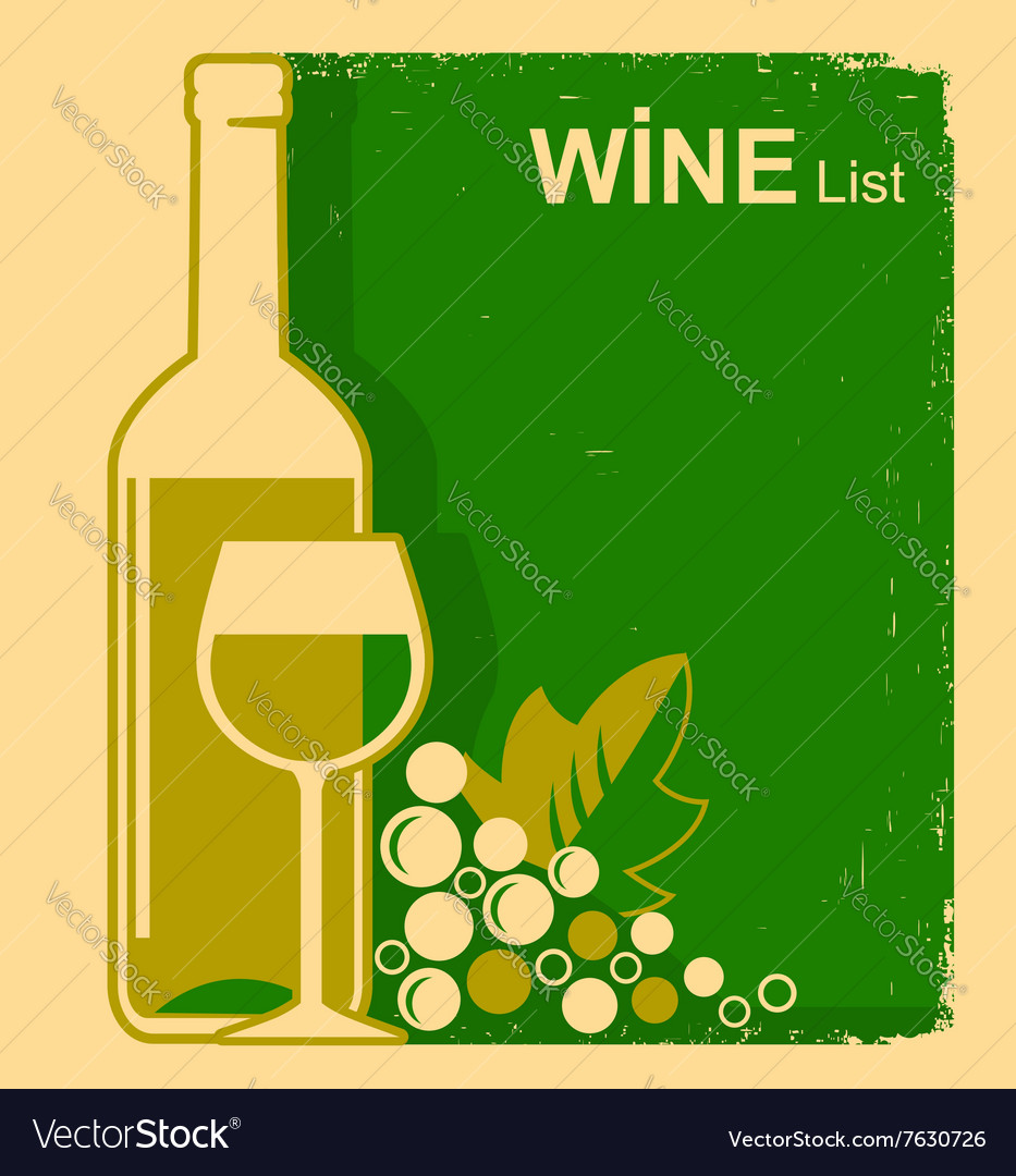 Vintage white wine list background for text vector image