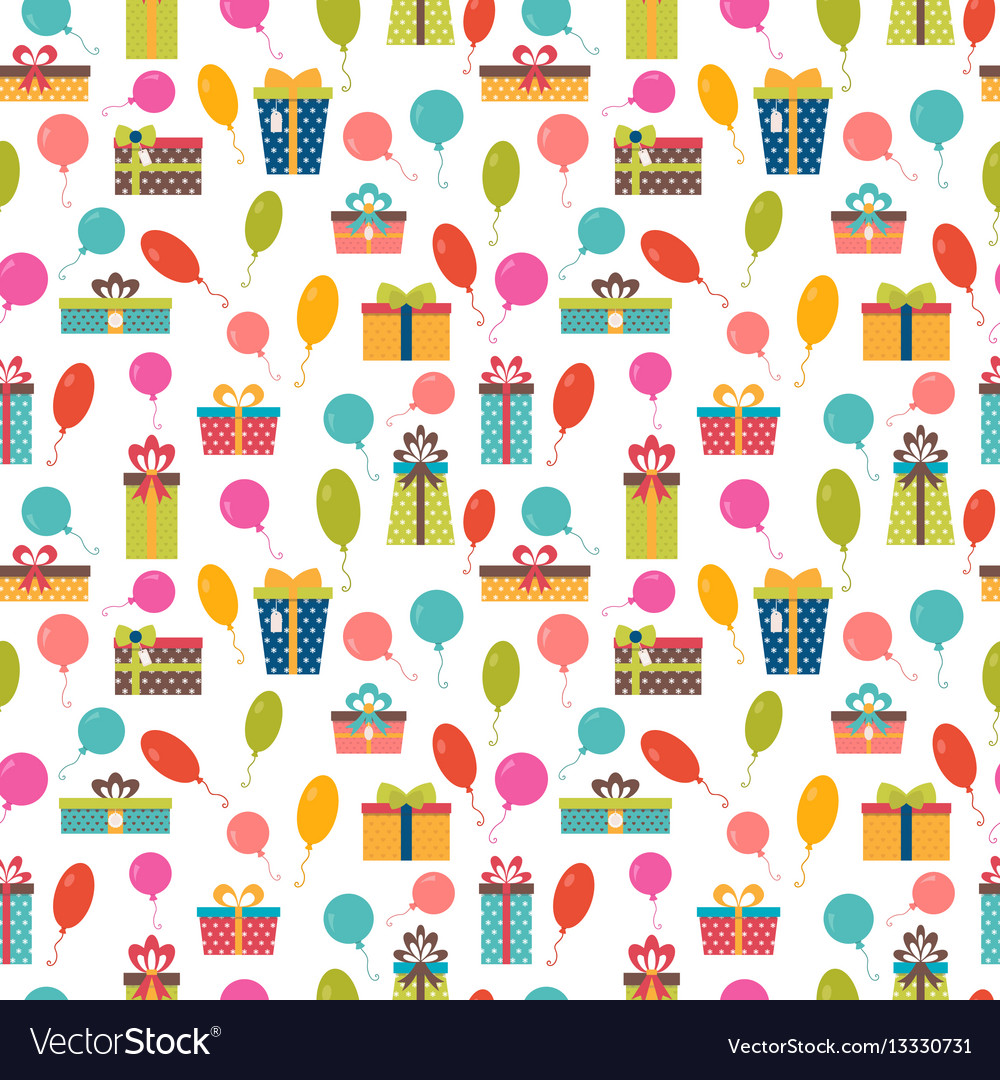 Birthday background seamless pattern with