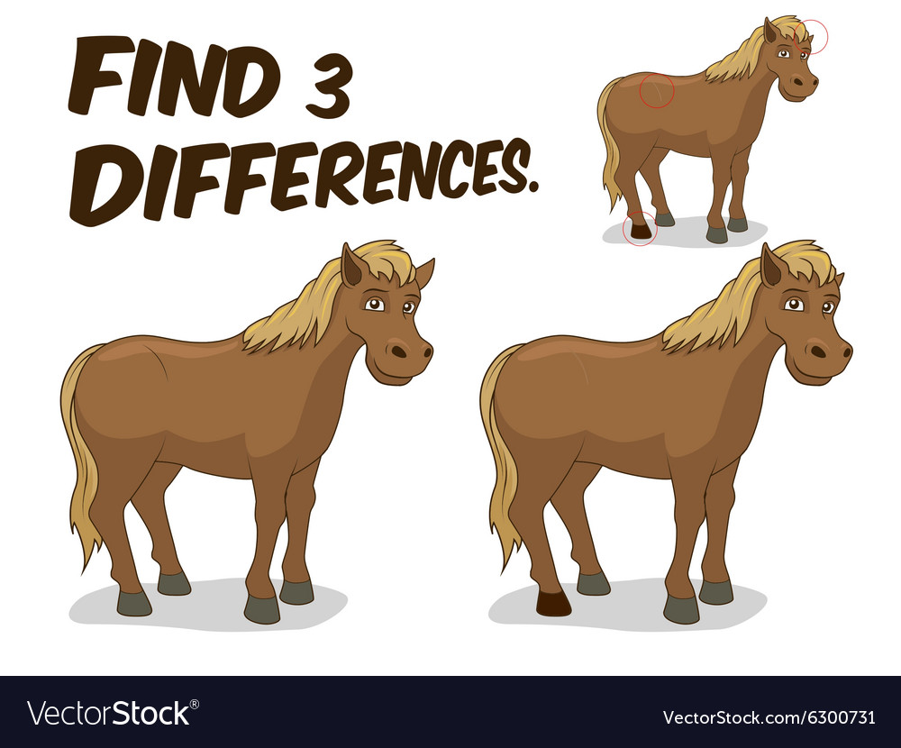Find differences game horse