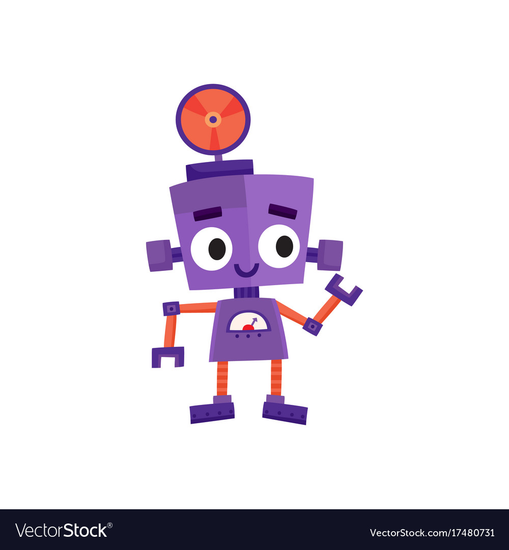 flat cartoon small funny male boy robot royalty free vector rh vectorstock com robot vector paths robot vector paths