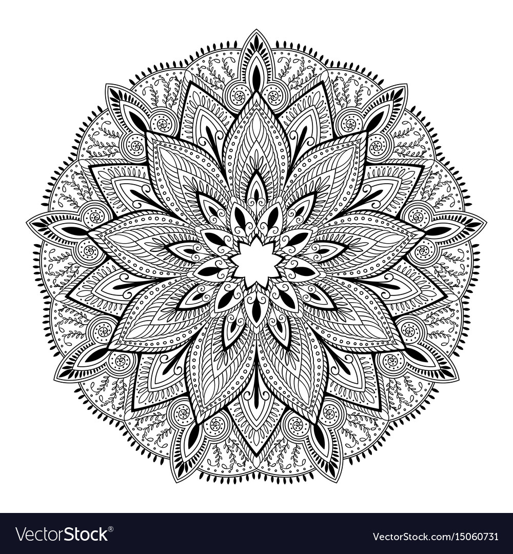 Mandala highly detailed inspired