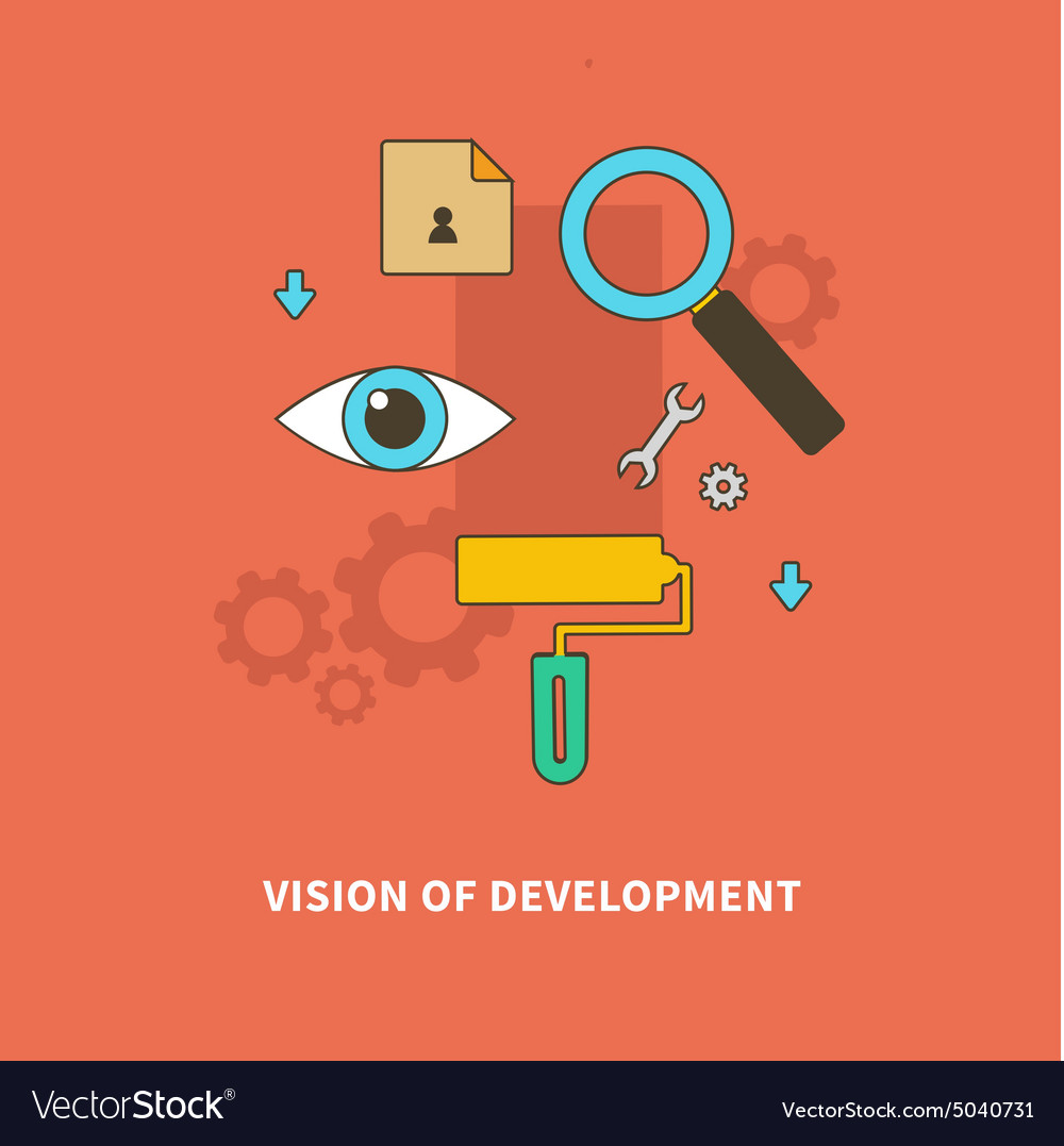 Stage Business Process is Vision of Development vector image