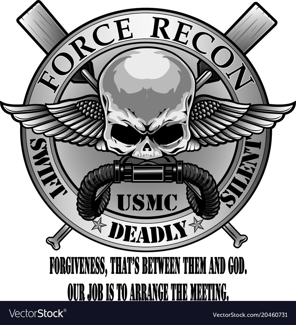 Usmc Force Recon Royalty Free Vector Image Vectorstock