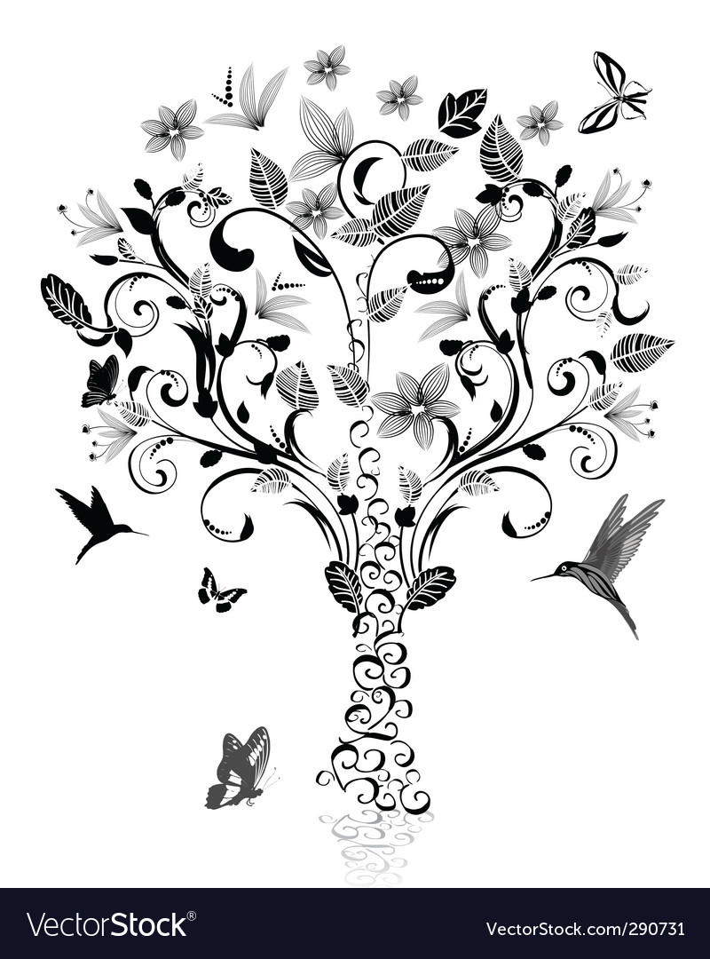 Vintage tree royalty free vector image vectorstock vintage tree vector image altavistaventures Images