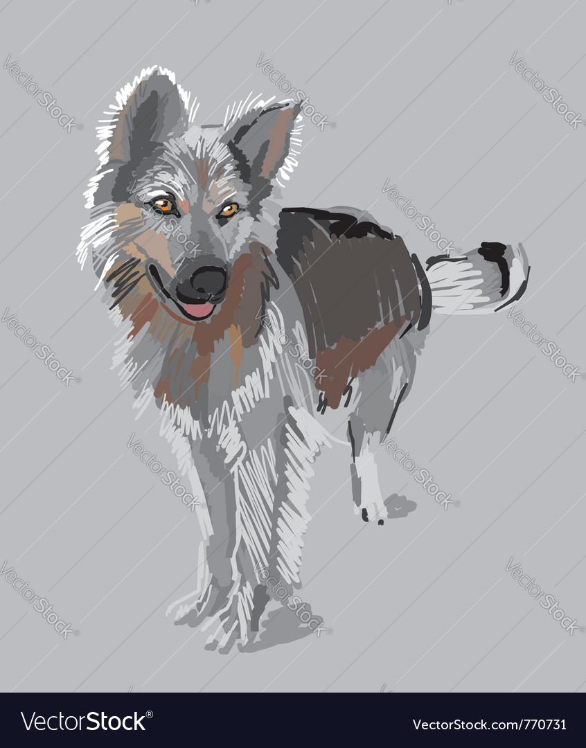 Watchdog vector image