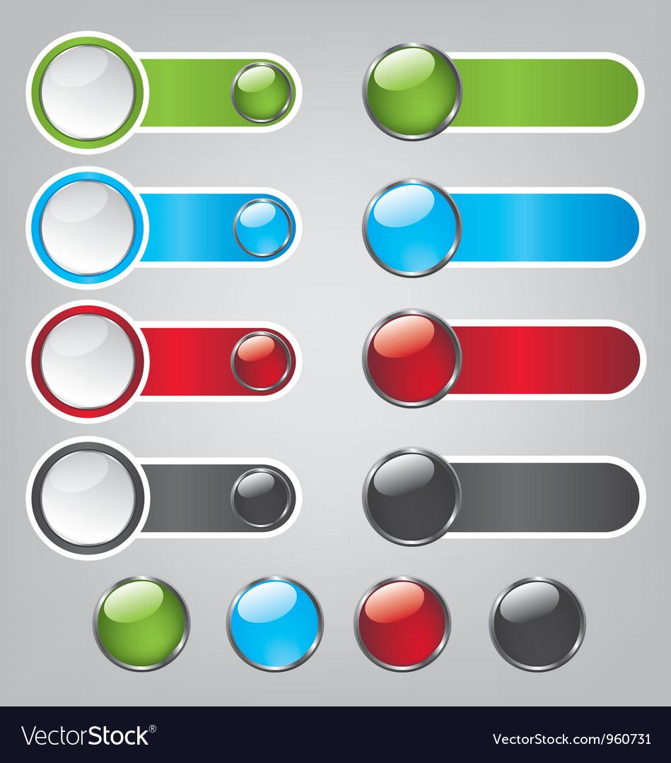 Web bubble icons vector image