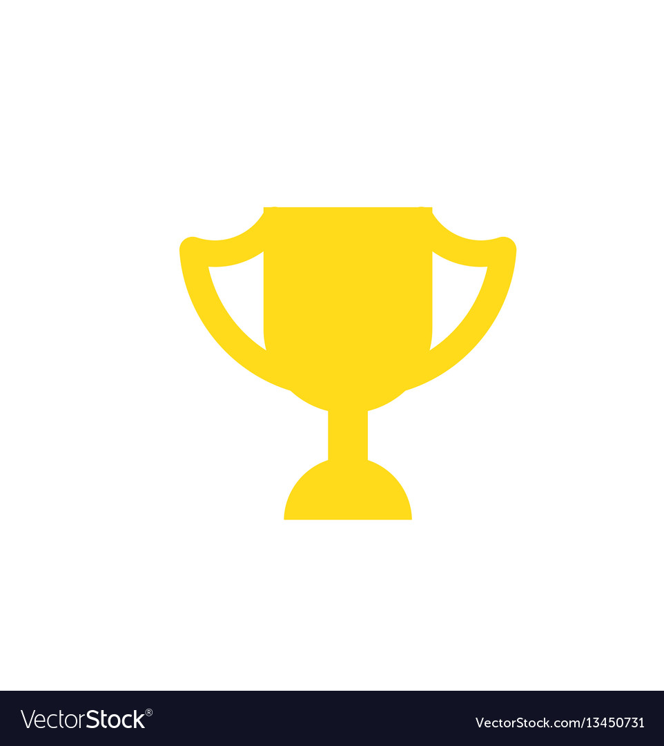 Winner cup isolated icon in