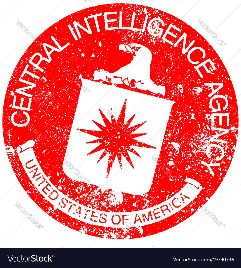 Cia rubber stamp vector image