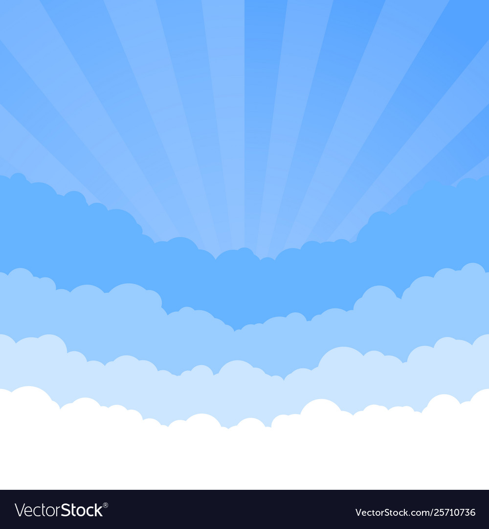Clouds sky with retro style sunrise skyline