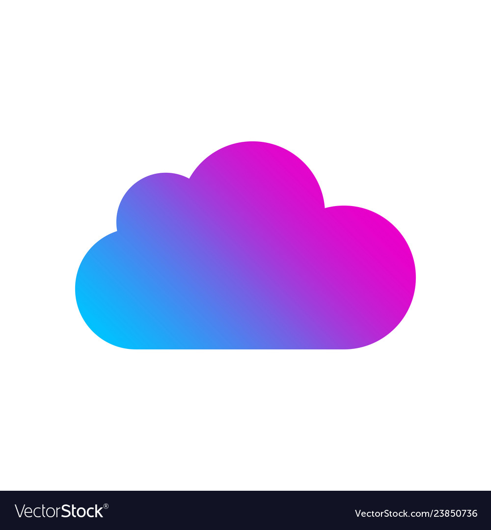 Colored cloud icon on white background logo for