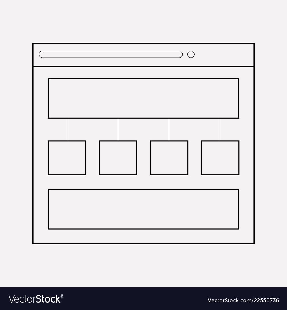 Content structure icon line element