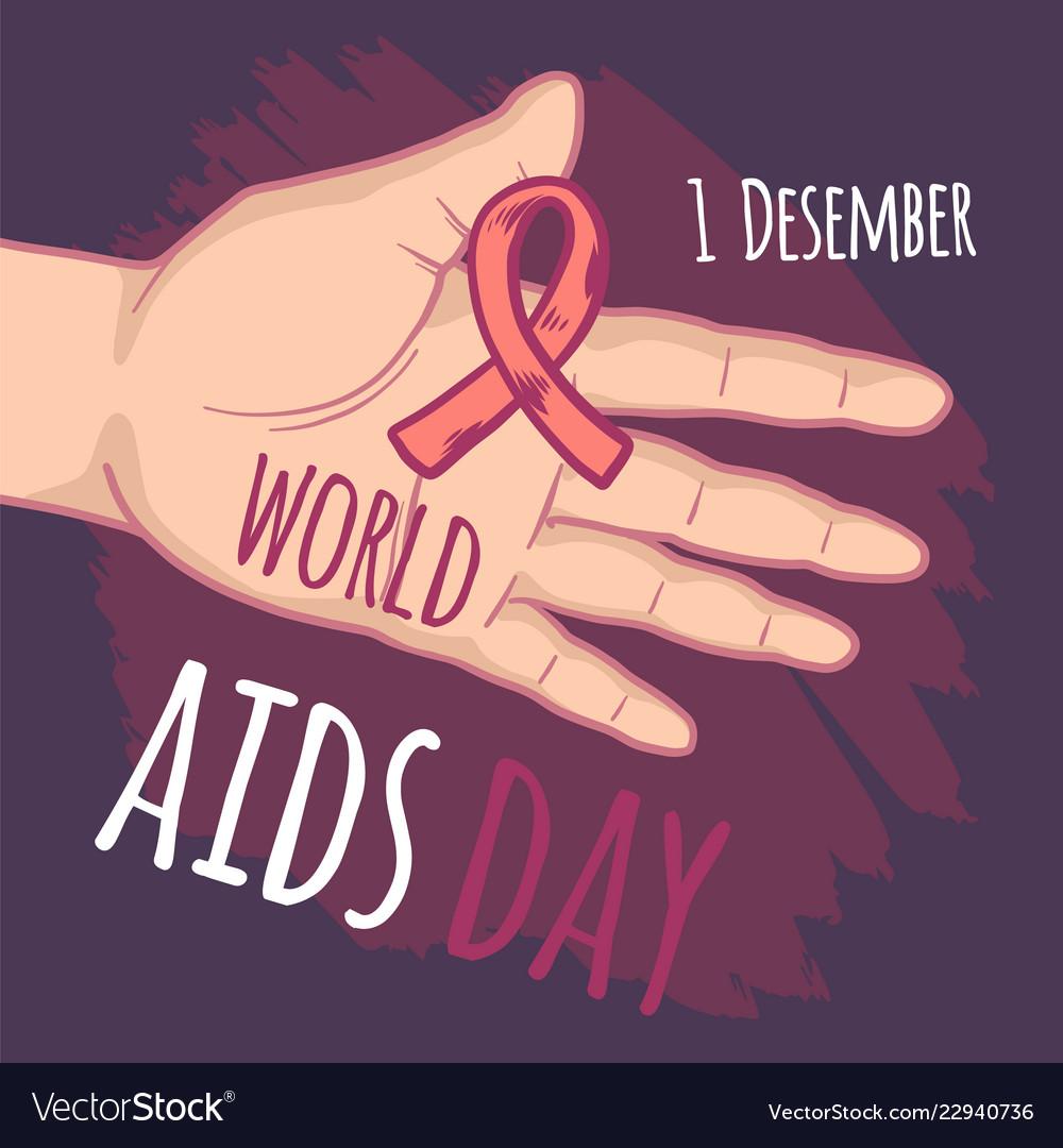 December world aids day concept background hand