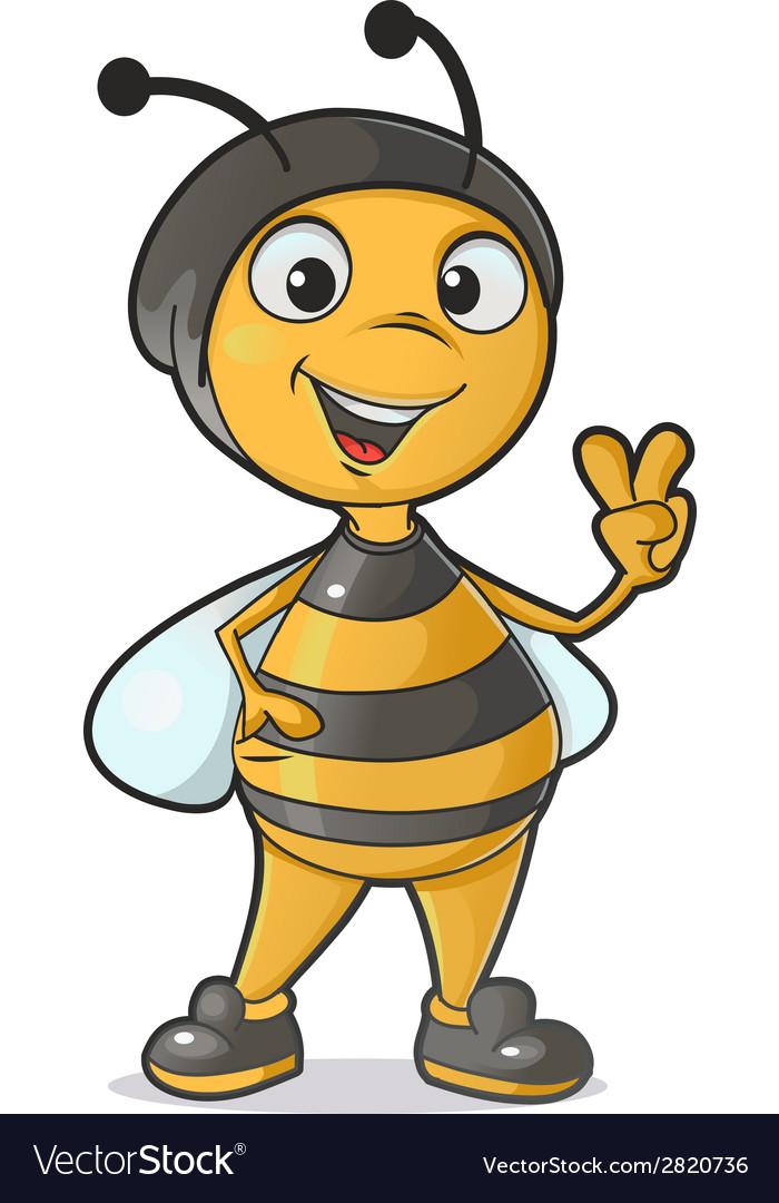 Funny Bee Royalty Free Vector Image Vectorstock