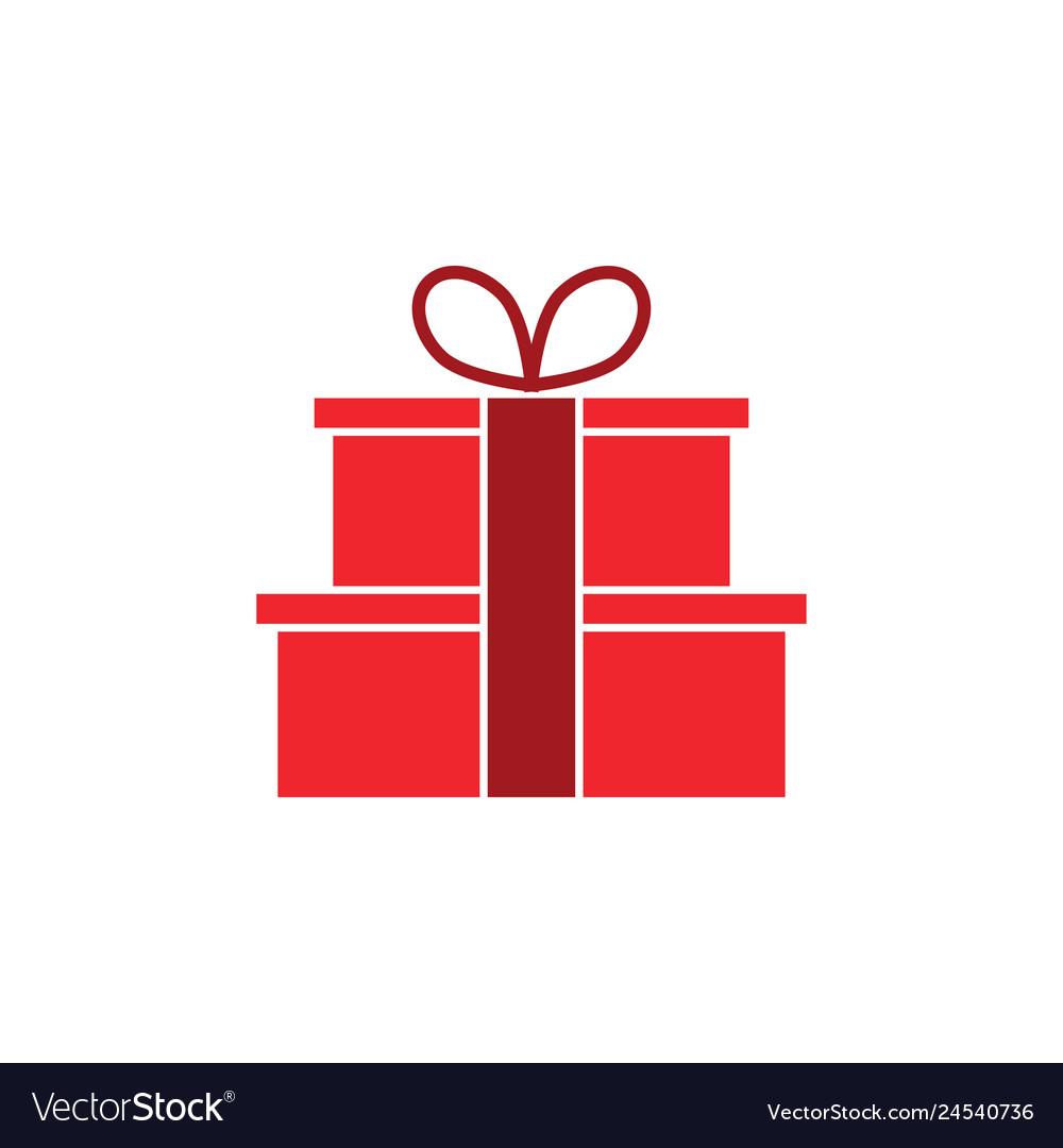 Gift box graphic design template