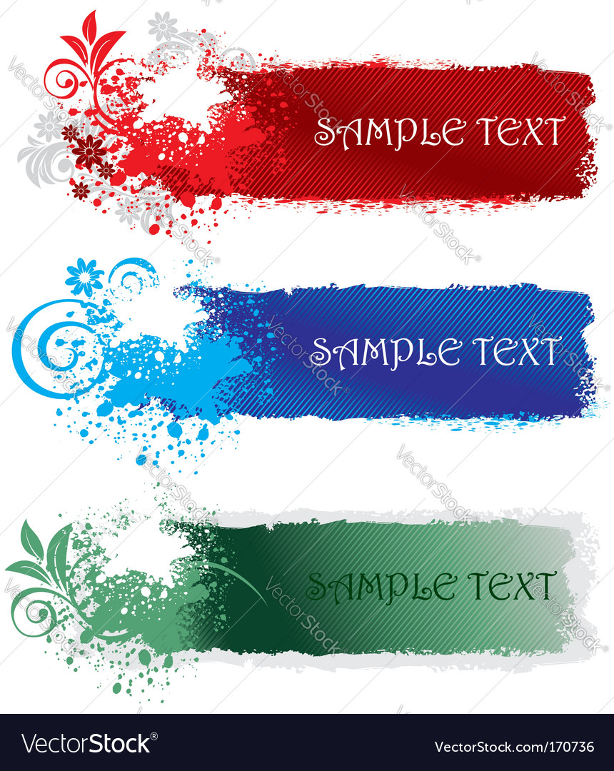 Set of splatter banners vector image