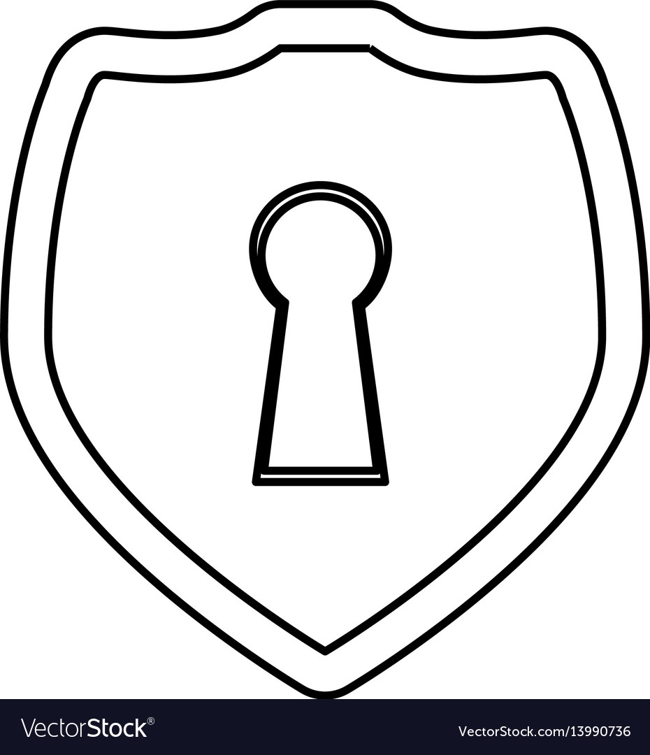 Shield security abstract lock