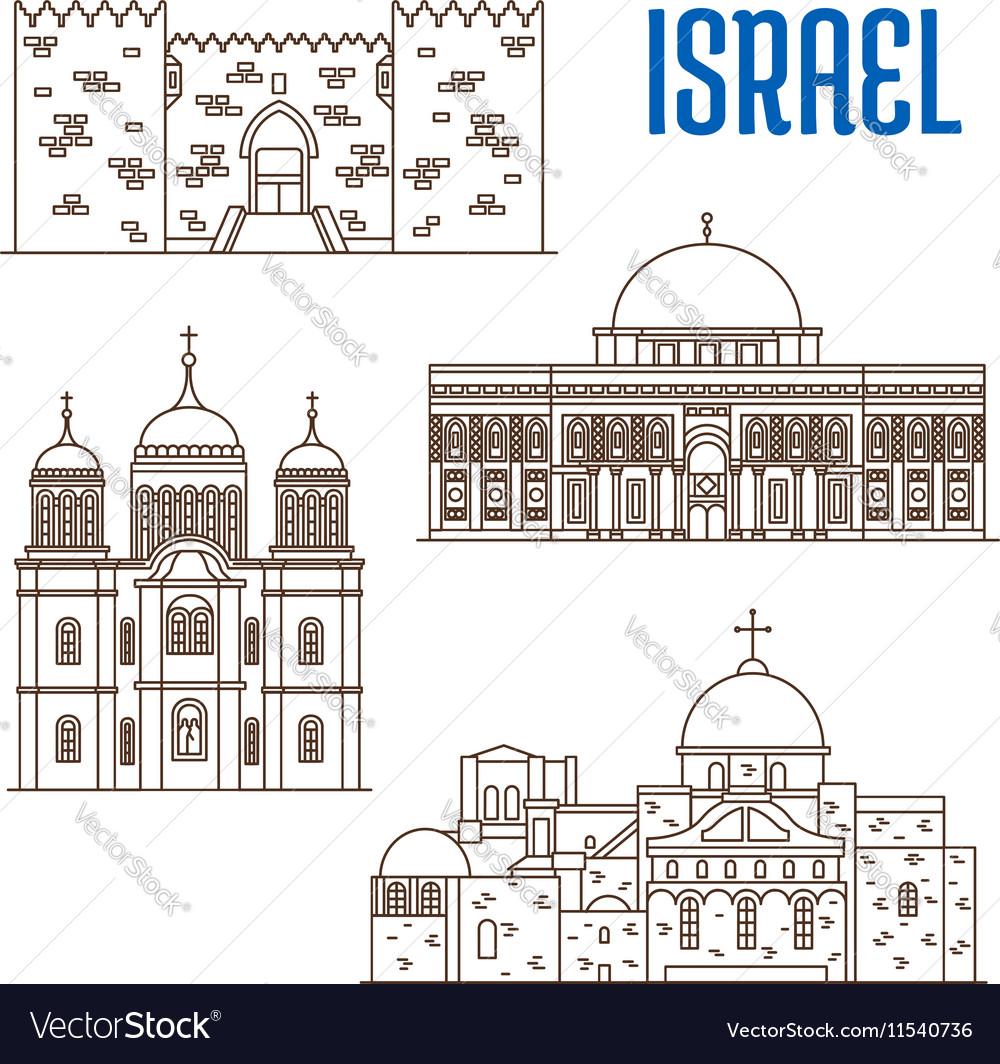 Sightseeings architecture landmarks of Israel