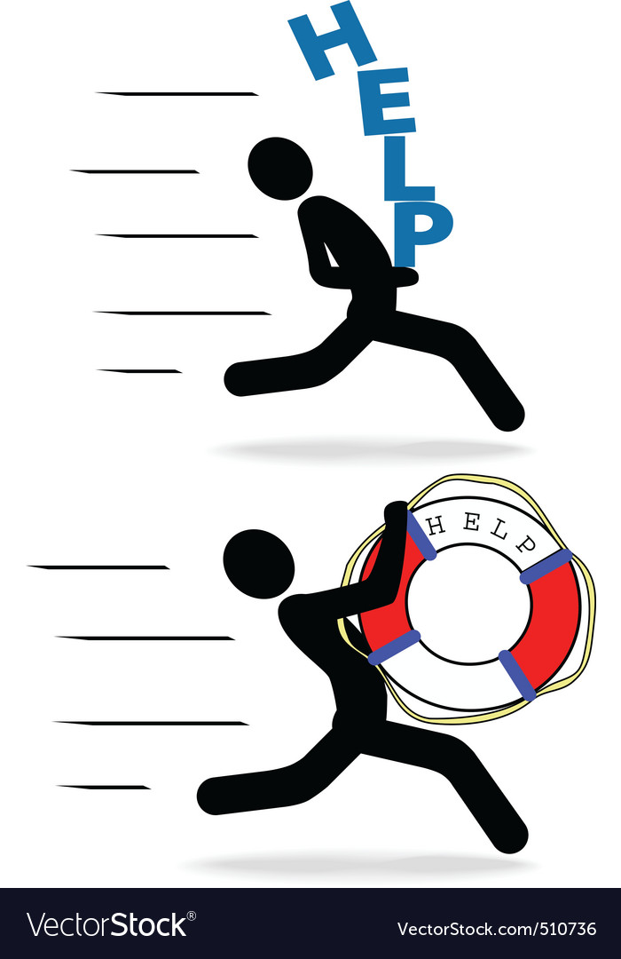 Speedy people help hurry fast delivery vector image