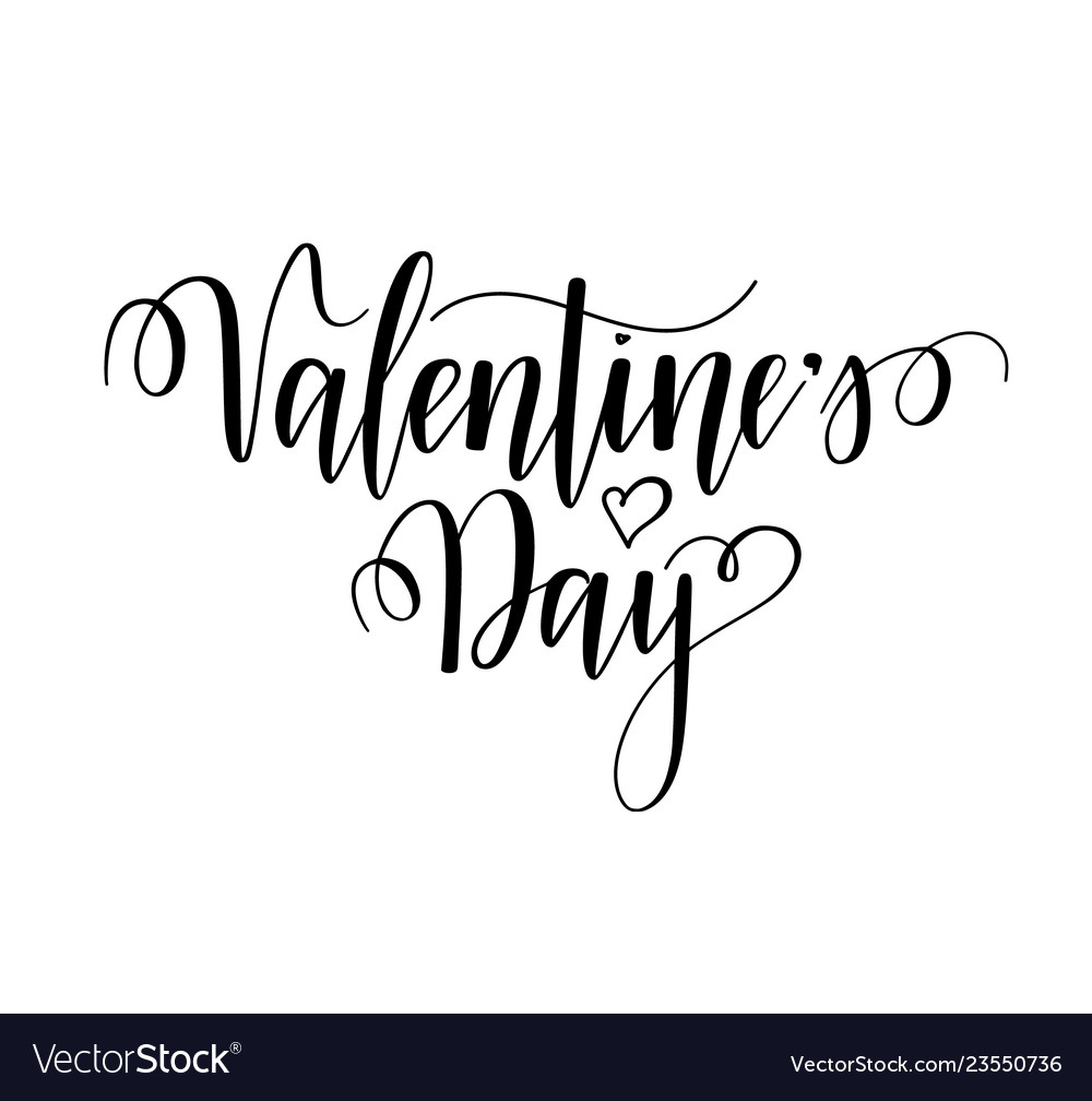 Valentines day nice calligraphy design for