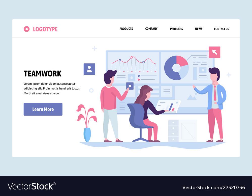 Web site linear art design template