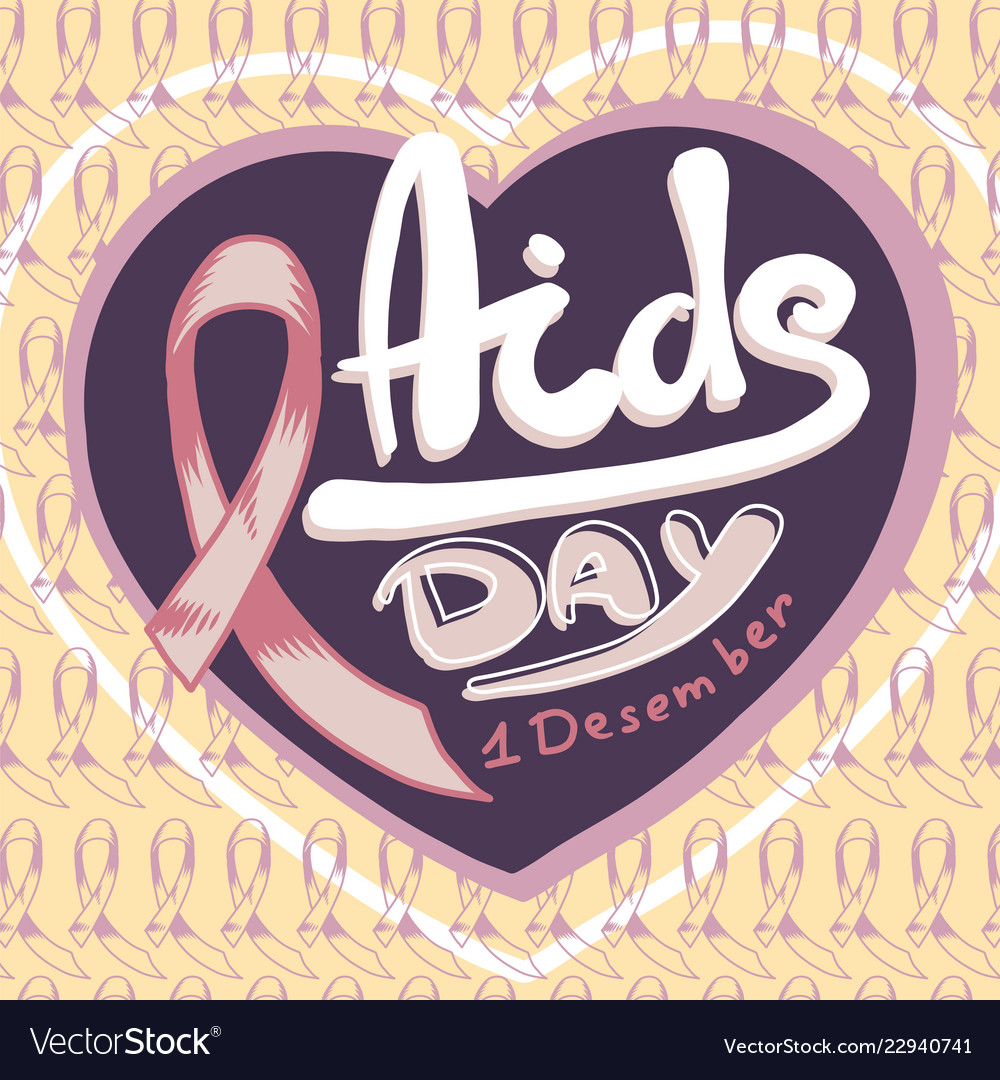 Aids day concept background hand drawn style
