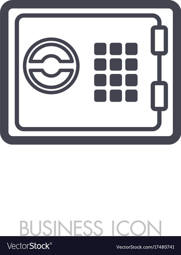 Bank safe outline icon finances sign