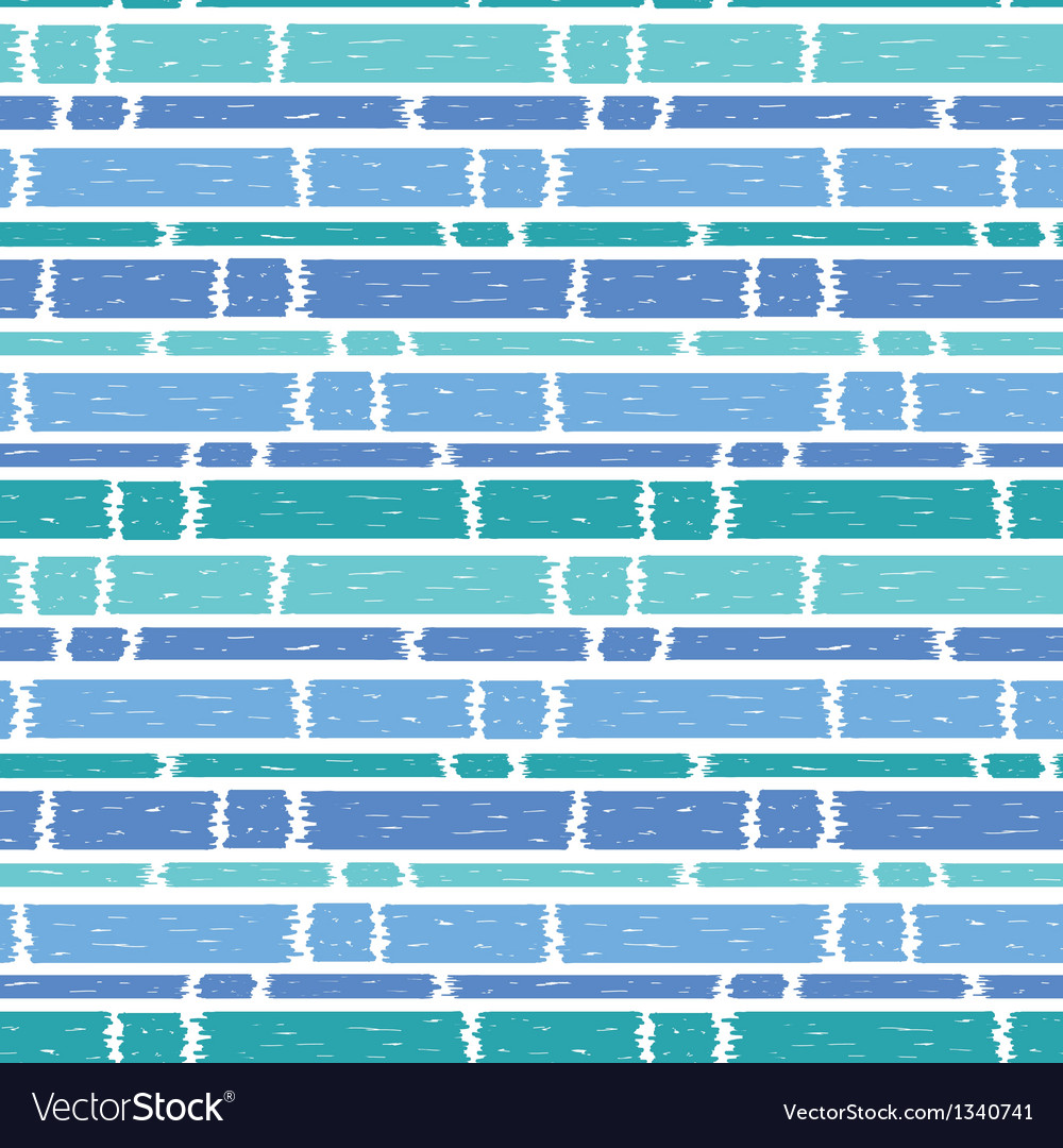 Blue paint horizontal stripes seamless pattern