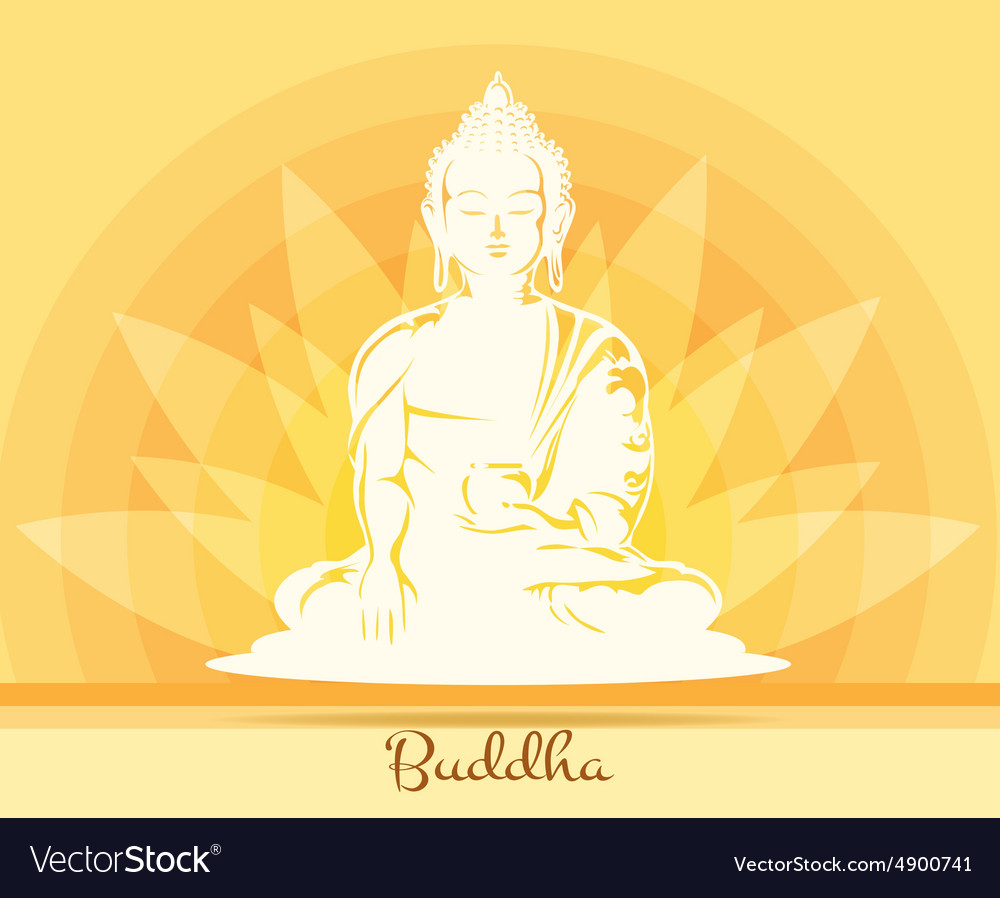 Buddha With Lotus Flower Royalty Free Vector Image