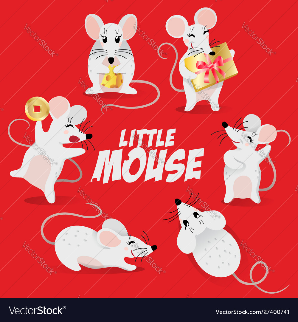 Chinese new year symbol set - cute mouse