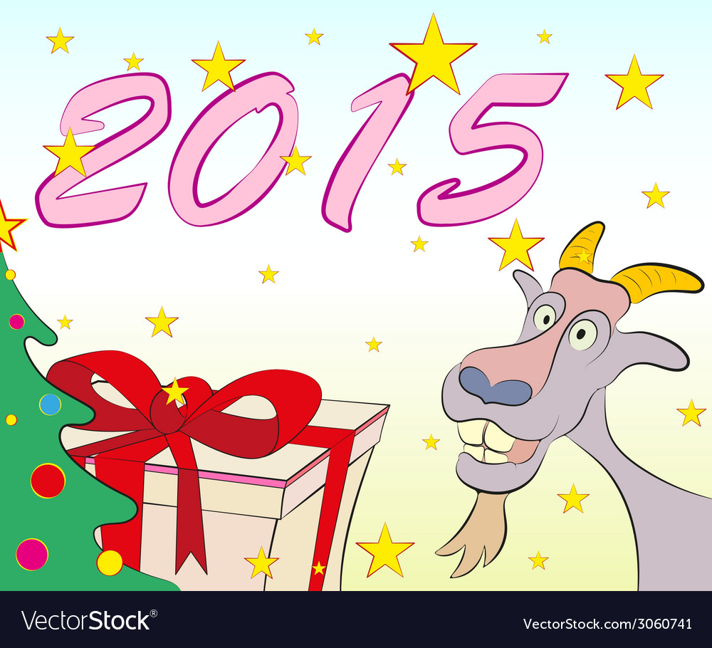 Christmas greeting cards symbol of new year 2015 vector image m4hsunfo