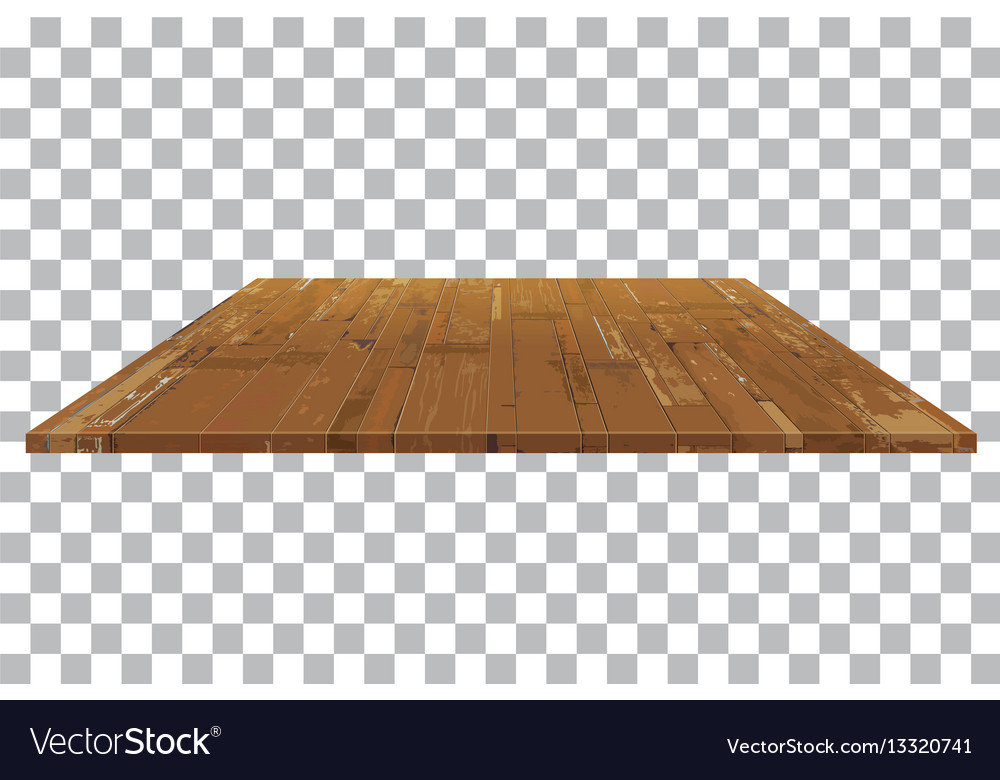 Empty wooden shelf table isolated background