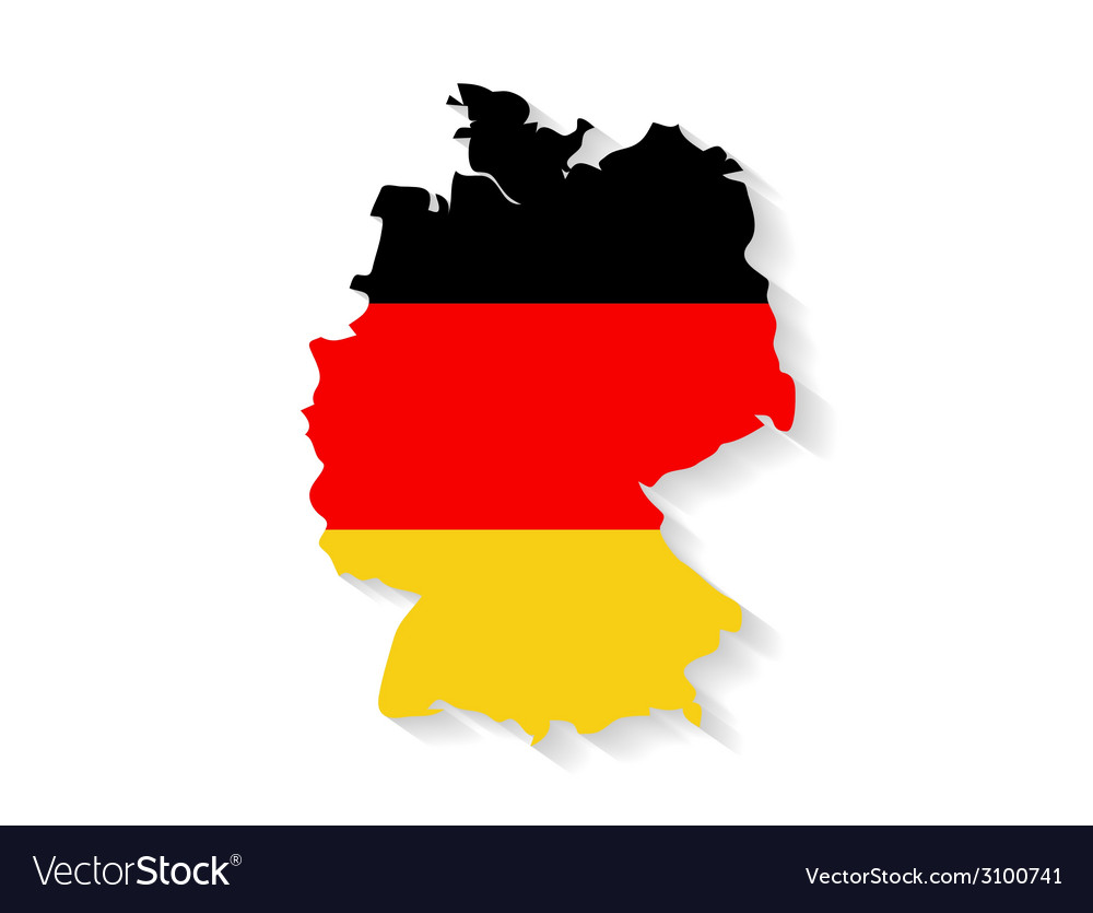 Germany flag map with shadow effect