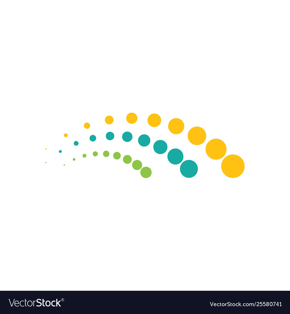 Halftone spine circle dots